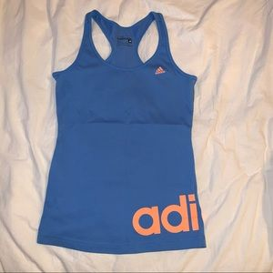 blue Adidas women's tank top